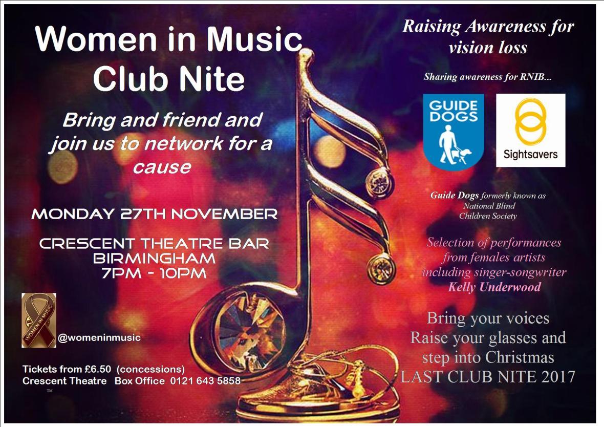 WIM Club Nite Postcard for Crescent Theatre