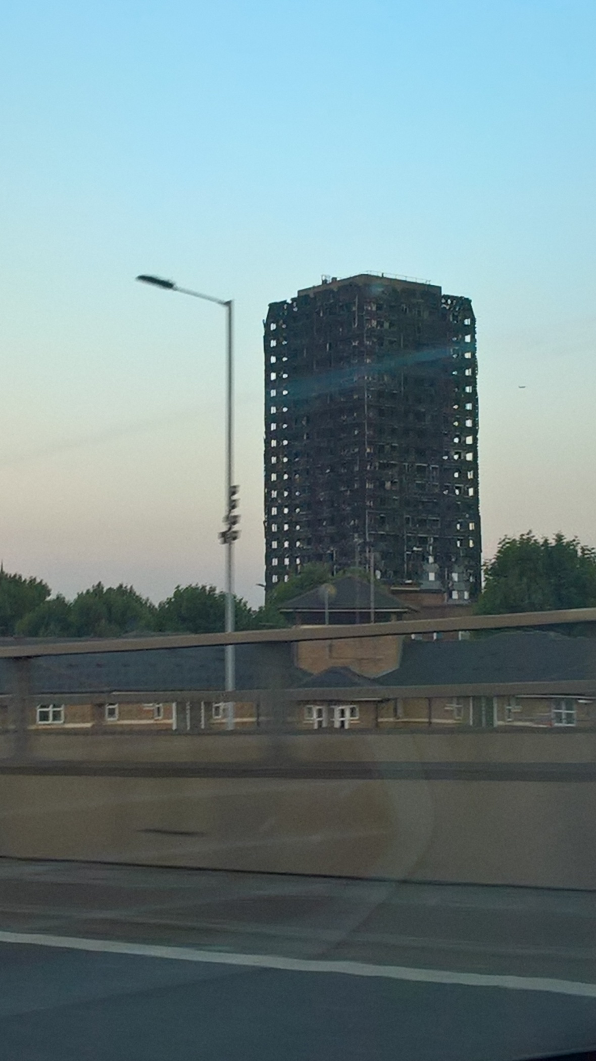 Geri Minelli passes Grenville Tower on Motorway