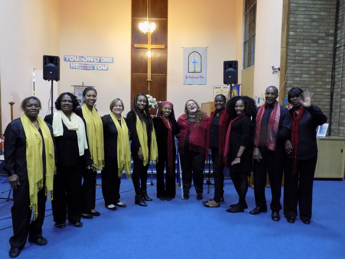 UTN Community Choir at the end of the night